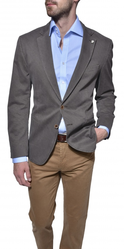Brown cotton blazer