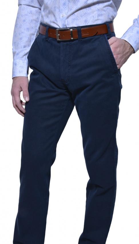 Tmavomodré chinos nohavice