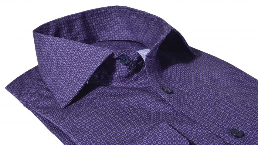 Tmavomodrá Extra Slim Fit vzorovaná košeľa