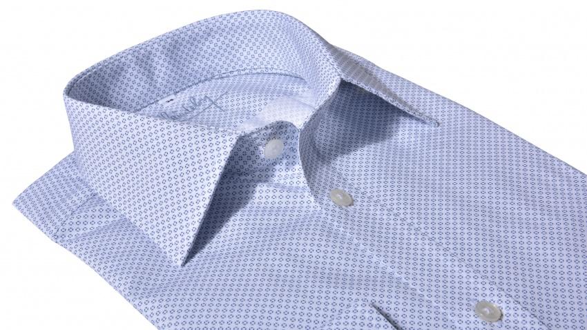 Extra Slim Fit business košeľa s printom