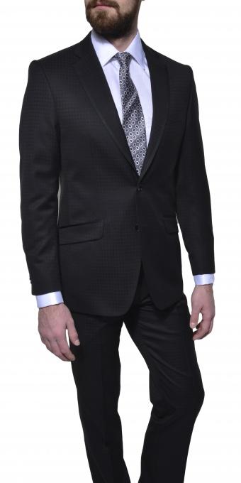 LIMITED EDITION čierny vlnený oblek