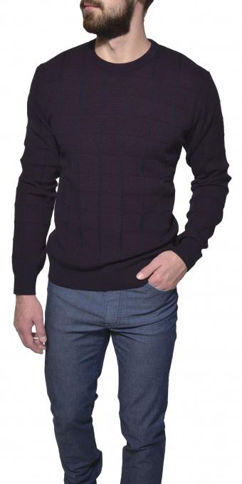 Fialový tkaný pulóver