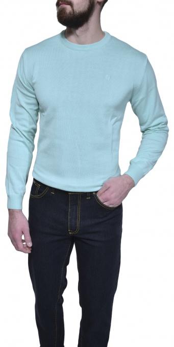 Bledozelený bavlnený pulóver
