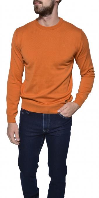 Orange cotton crewneck