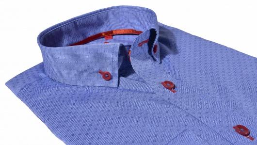 Modrá voľnočasová Ultra Slim Fit košeľa