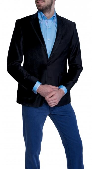 Black mohair blazer