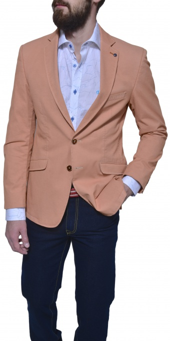 Pomarančové bavlnené sako