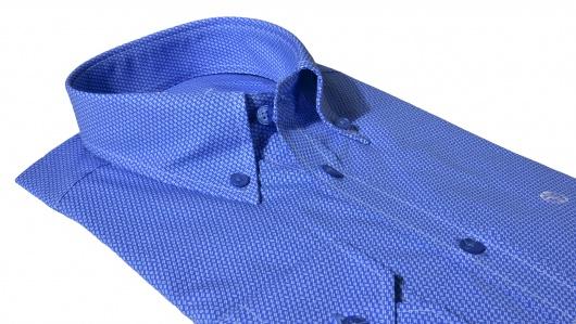 Blue Extra Slim Fit printed shirt