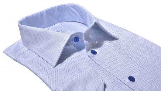 Modrá Classic Fit bodkovaná košeľa