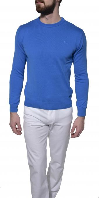Light blue cotton crewneck