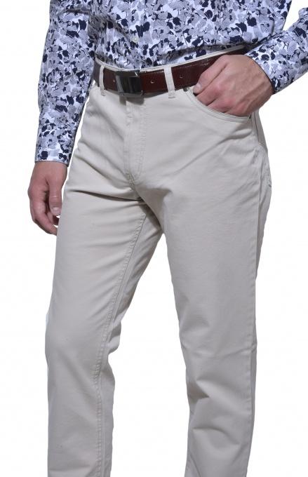 Béžové päťvreckové nohavice
