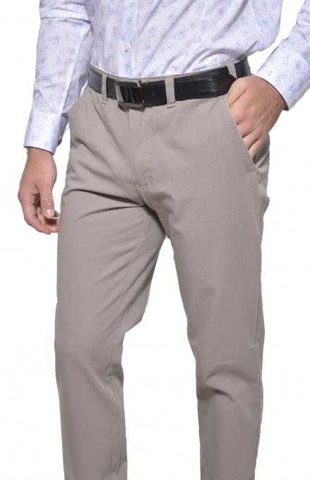 Šedé voľnočasové chinos nohavice