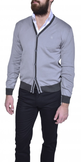Šedý bavlený sveter