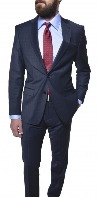 Grey - blue Slim Fit suit