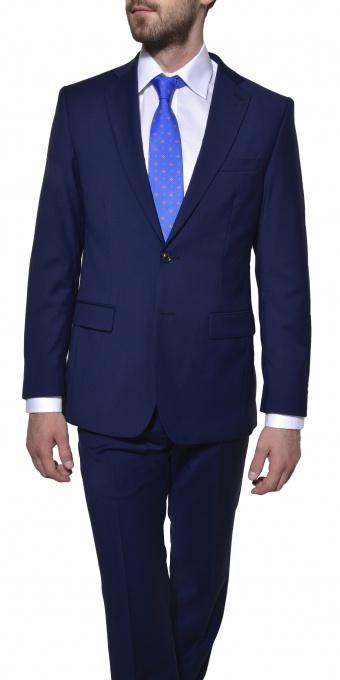 Blue wool Slim Fit suit