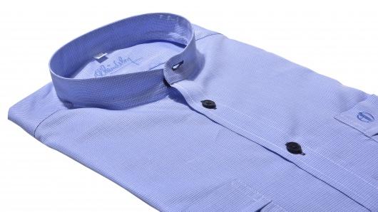 Modra voľnočasová Extra Slim Fit košeľa