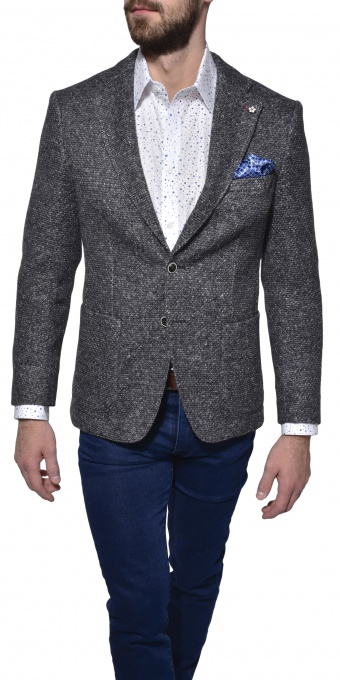 Grey unstructured blazer