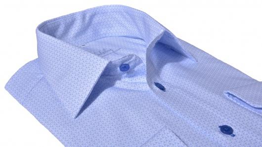Luxury line Modrá  Classic Fit košeľa