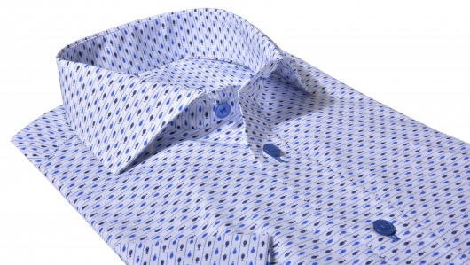 Blue Slim Fit short sleeved shirt