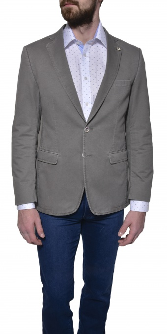 Light grey cotton blazer