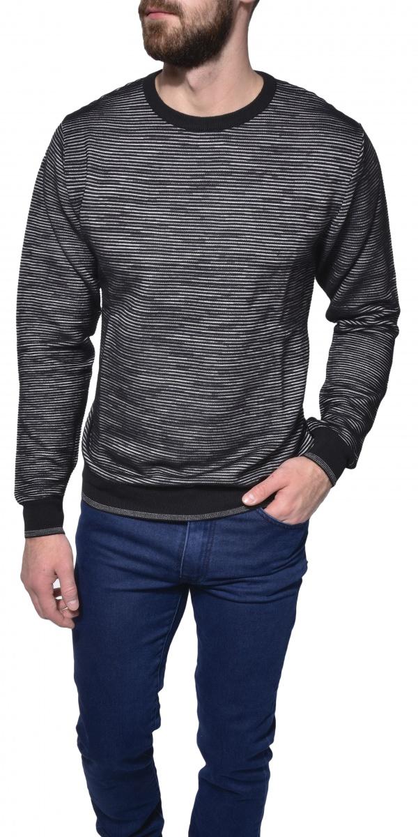 Šedý pletený pulóver