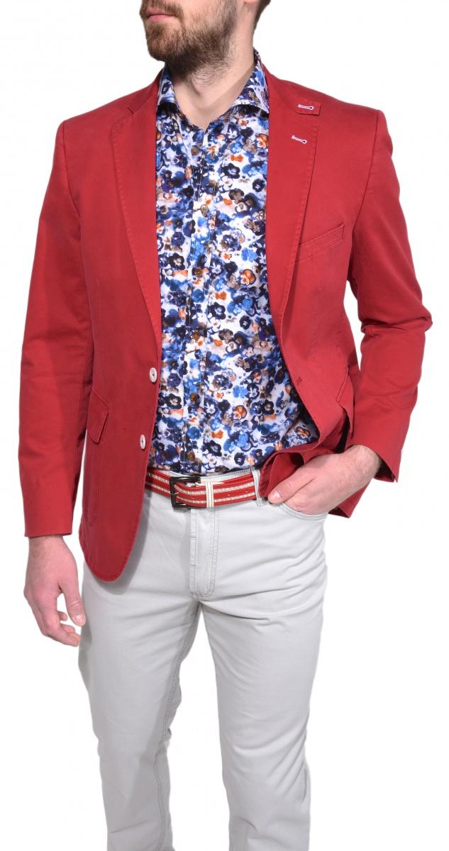 Červené voľnočasové sako