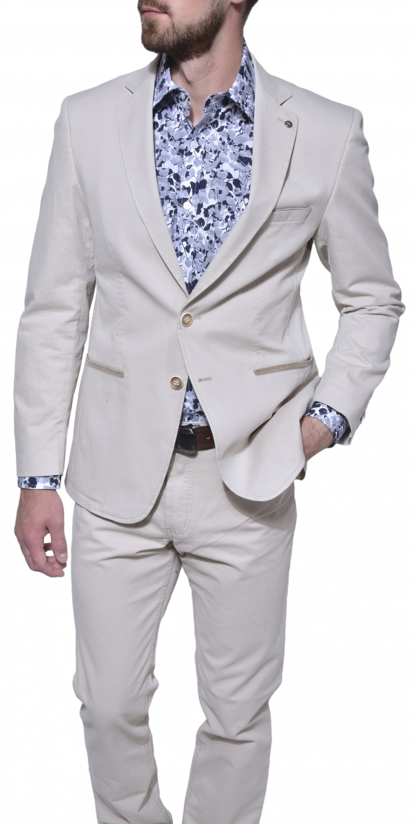 Khaki cotton blazer
