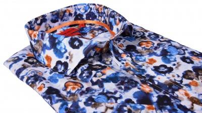 Printová Slim Fit košeľa s krátkym rukávom