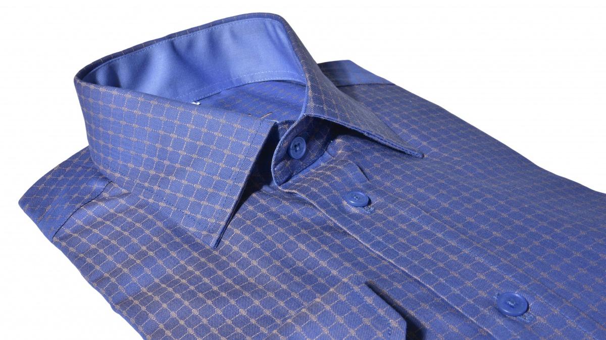 Modrá voľnočasová Slim Fit košeľa