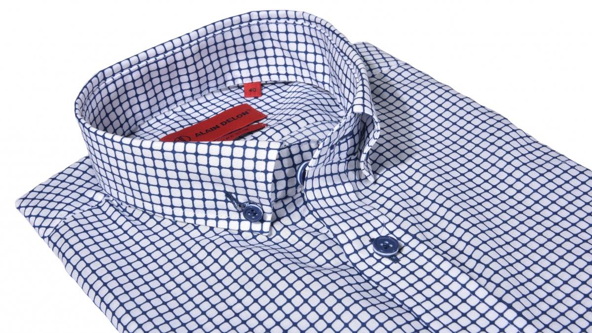 Modrá károvaná Ultra Slim Fit košeľa