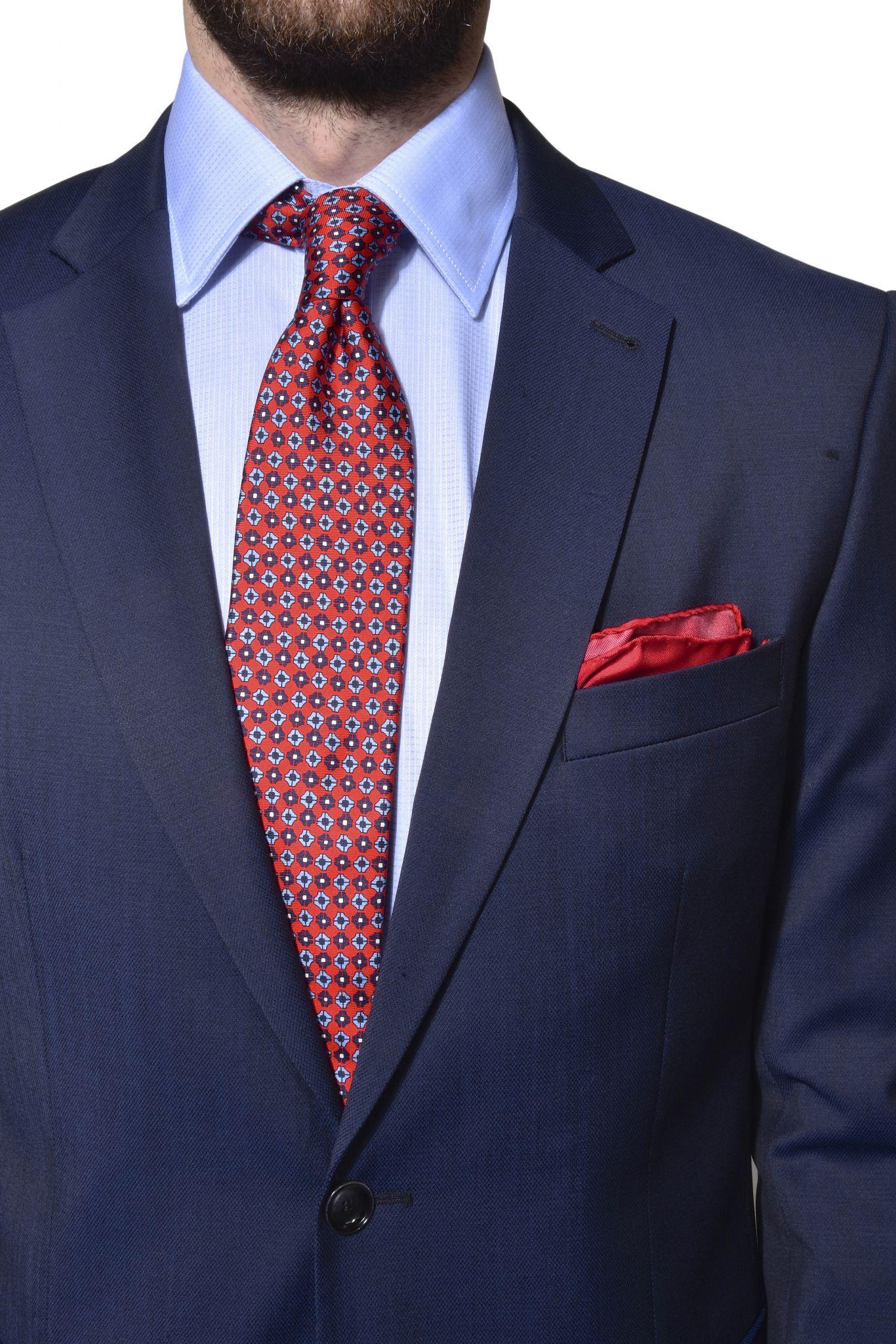 259dc0d5e84e Tmavomodrý vlnený Slim Fit oblek - Obleky - E-shop