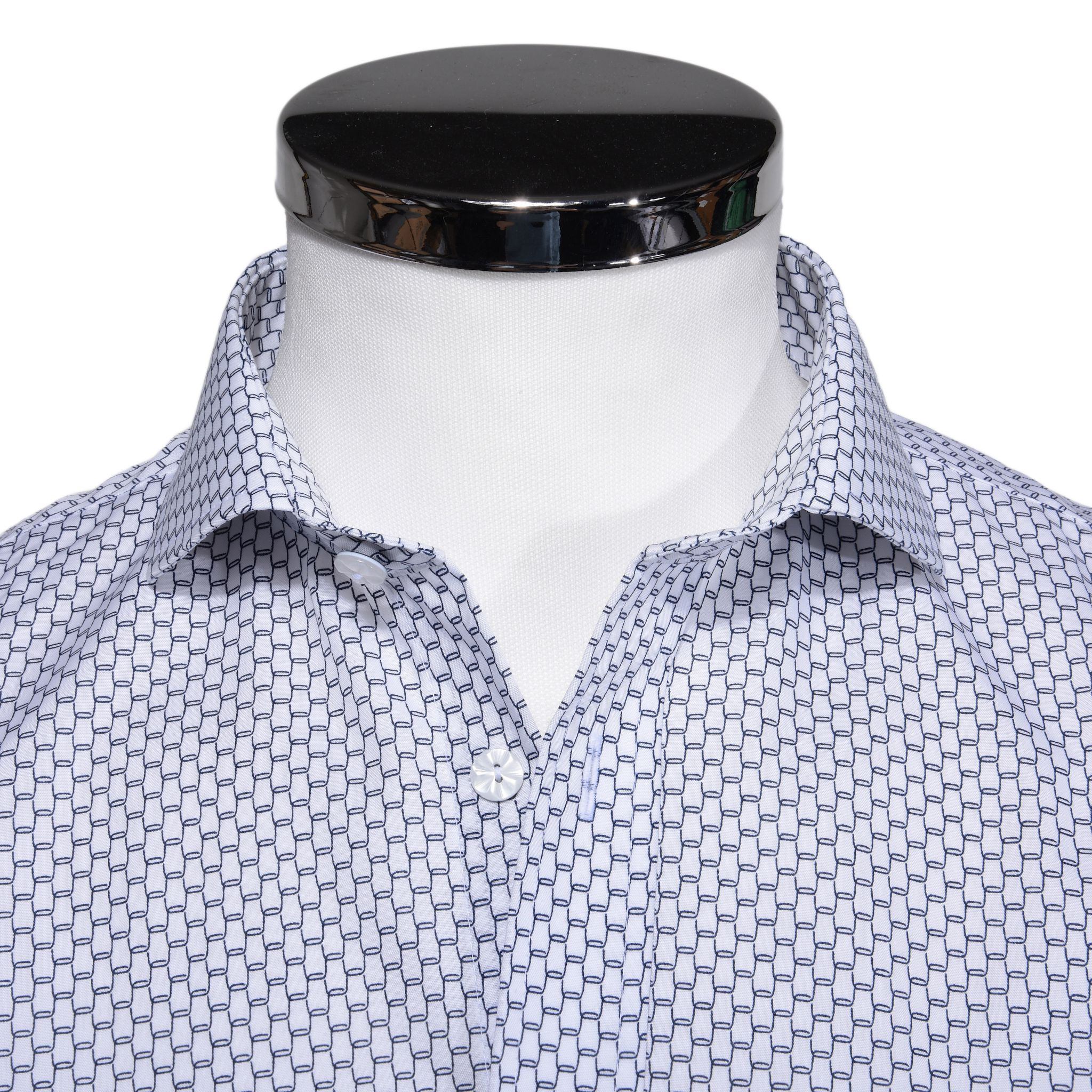 d28f1218ce17 Biela printová Slim Fit košeľa s krátkym rukávom - Košile krátky ...