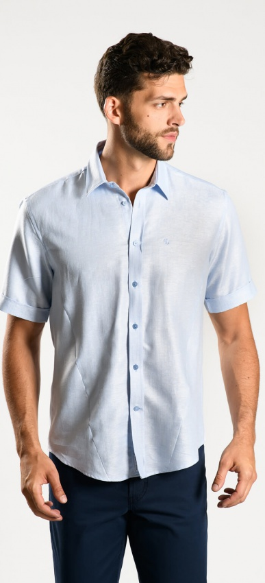 Light blue Extra Slim Fit short sleeved shirt