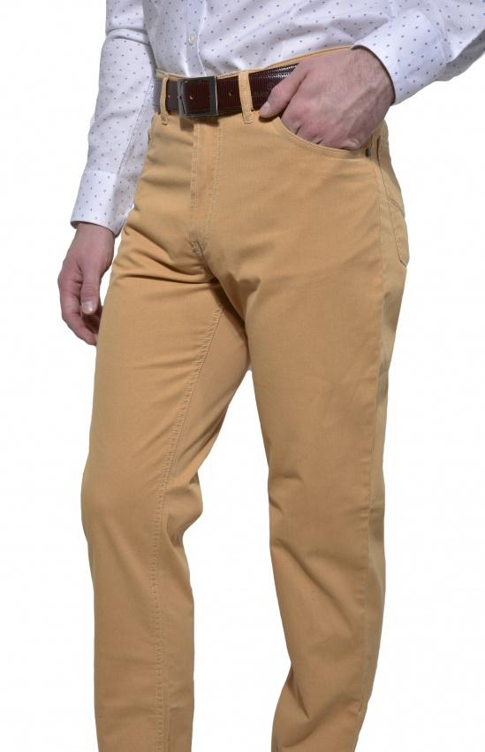 Horčicové voľnočasové nohavice