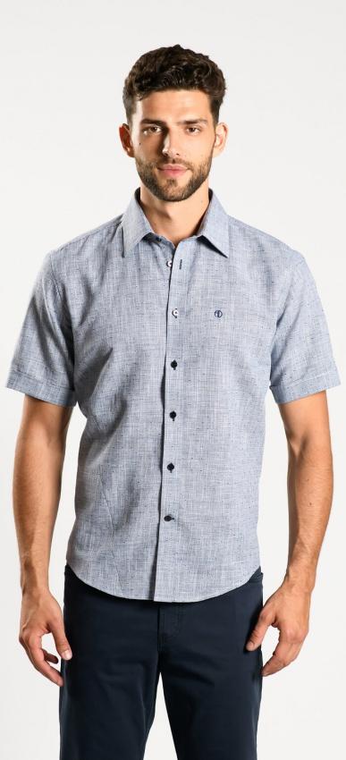Tmavomodrá Extra Slim Fit košeľa s krátkym rukávom