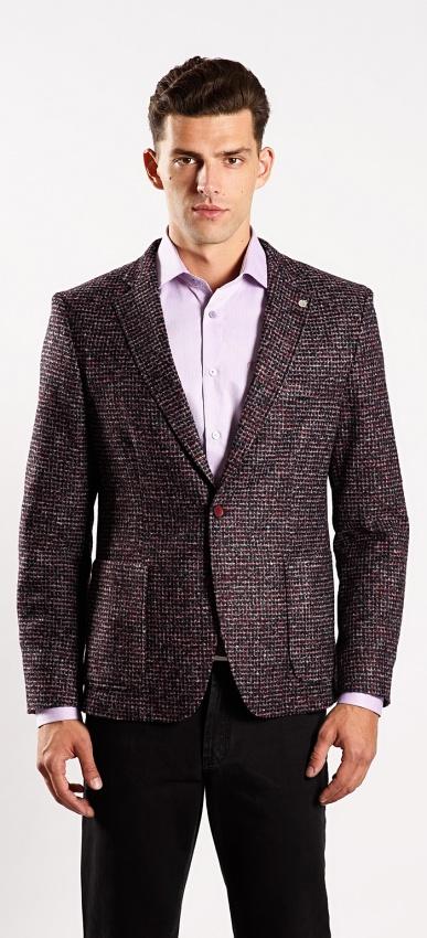 Úpletové jesenné sako