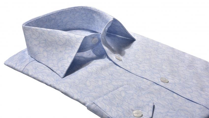 Bledomodrá Basic Extra Slim Fit košeľa