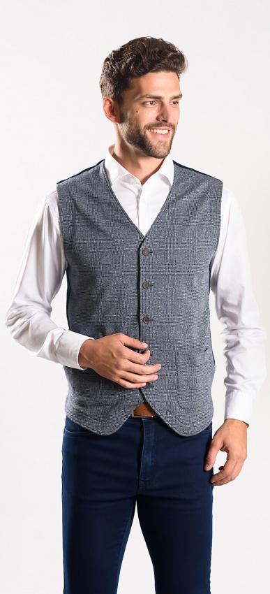 Grey casual vest