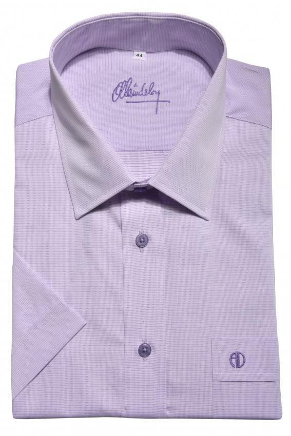 Purple Classic Fit short sleeved shirt