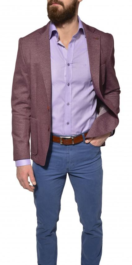 Unconstructed cotton blazer