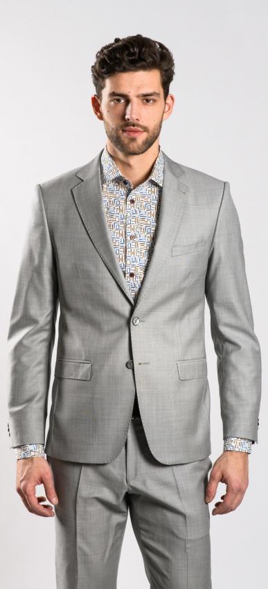 Béžový vlnený oblek