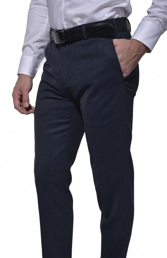 Šedomodré oblekové nohavice