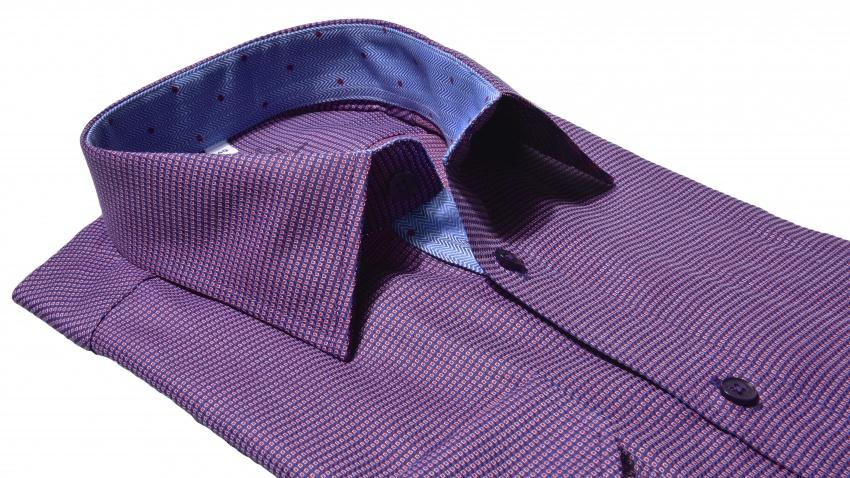 Tmavofialová Extra Slim Fit košeľa