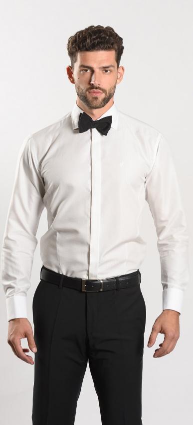 Spoločenská Extra Slim Fit košeľa farby champagne