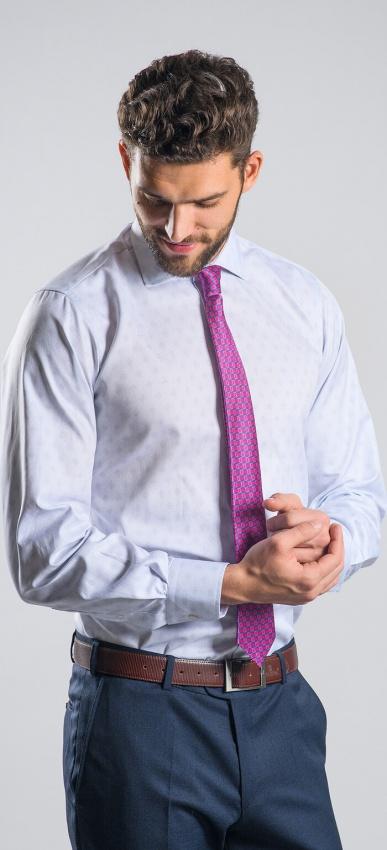 Šedá Slim Fit business košeľa