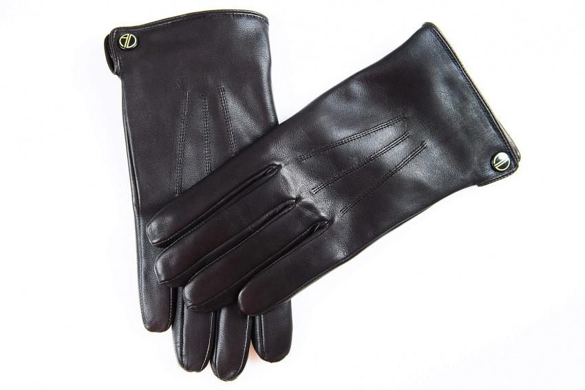 Hnedé kožené rukavice
