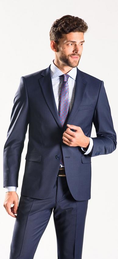 Tmavomodrý Slim Fit oblek XL