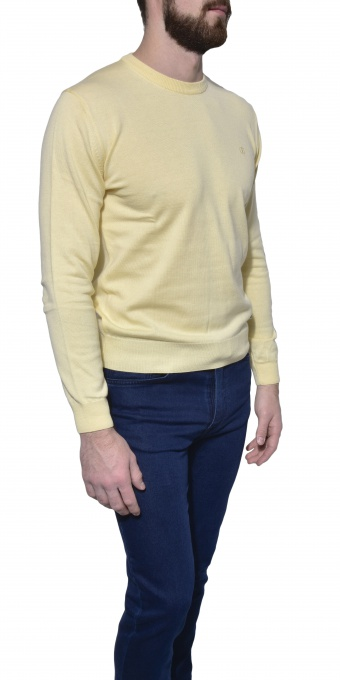 Light yellow cotton crewneck