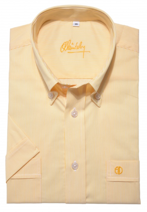 Yellow Slim Fit short sleeved shirt