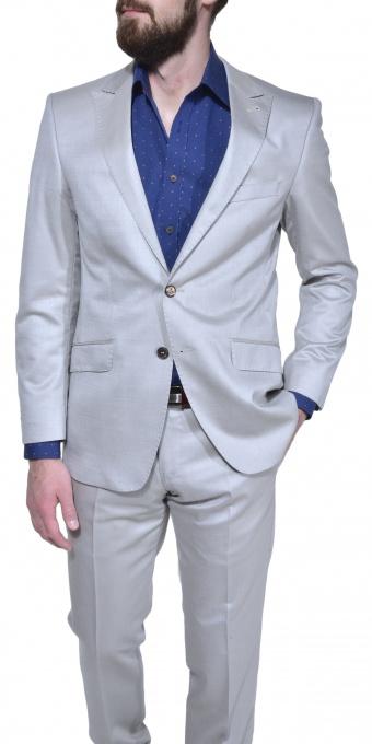 Béžový letný Slim Fit oblek